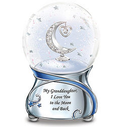 My Granddaughter Musical Snowglobe with Swarovski Crystal Heart