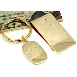 Engravable Best Man Money Clip and Key Ring