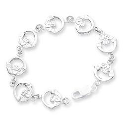 Sterling Silver Irish Claddagh Bracelet
