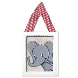 Elephant Framed Giclee Hanging Wall Art