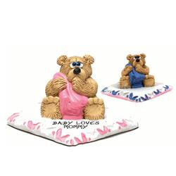 Personalized Baby Bear on Blanket