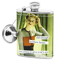 Old Enough to Know Better Hip Flask
