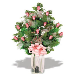 Mother's Day Dozen Chocolate Pink Roses