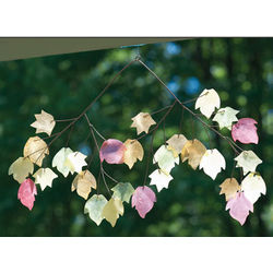 Autumn Leaves Capiz Chime