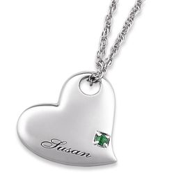 Sterling Silver Personalized Heart Pendant