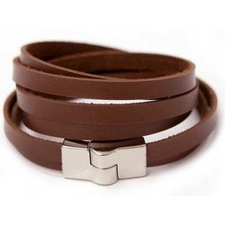 Sassy Cinnamon Leather Wrap Bracelet