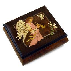 Wood Italian Angel Music Box