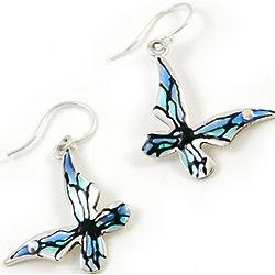 Blue Butterfly Sterling Silver Earrings