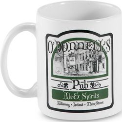 Personalized Irish Pub Mug