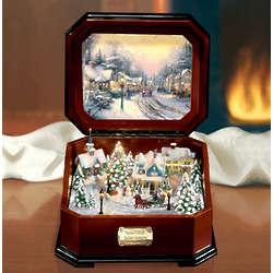 Memory Lane Village Christmas Music Box