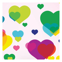 Overlapping Hearts Wall Decals