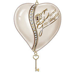 Granddaughter's Personalized Key To My Heart Ornament