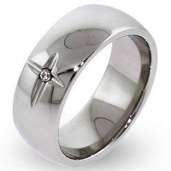 Faithful Forever Stainless Steel Cross Ring
