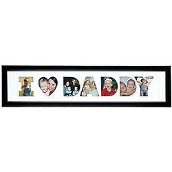 Personalized We Heart Daddy Horizontal Photo Collage Frame
