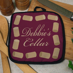 Personalized Wine Corks Pot Holder