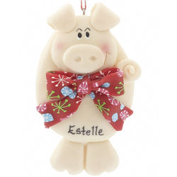 Personalized Pig Christmas Ornament