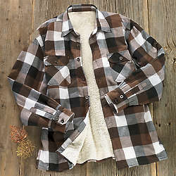 Faux Sherpa Lined Flannel Shirt