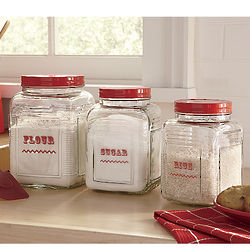 Square Glass Canisters