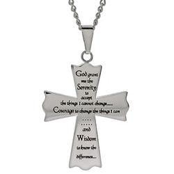 Serenity Prayer Cross Pendant