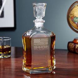 Personalized American Heroes Argos Liquor Decanter