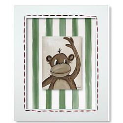 Monkey Framed Canvas Reproduction Wall Art