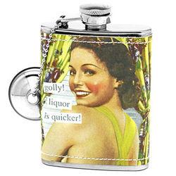 Golly Liquor is Quicker Hip Flask