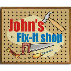 My Fix-It Shop Personalized Printed Plaque