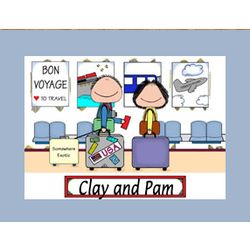 Personalized Travelers Bon Voyage Cartoon
