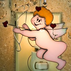 Cupid Stained Glass Ornament/Nightlight