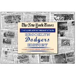 Brooklyn Dodgers History Newspaper