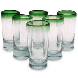 Green Fade Shot Glasses