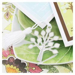 A New Beginning Tree Bookmark Wedding Favors