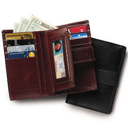 Leather RFID Travel Wallet
