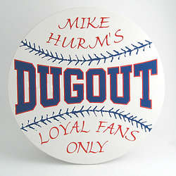 Dugout Circle Personalized Plaque