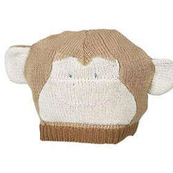 Cuddly Knit Monkey Hat