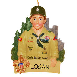 Personalized Eagle Scout Ornament