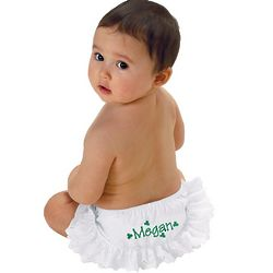 Personalized Holiday Ruffled Diaper Cover