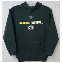 Green Bay Packers Football Youth Hooded Sweatshirt