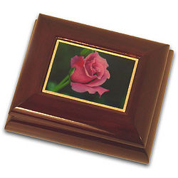 Adorable Rose Small Musical Jewelry Box