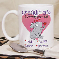 Elephant Sweethearts Valentine Coffee Mug
