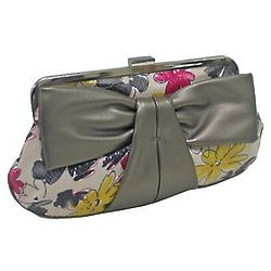 Flower Bow Clutch Handbag