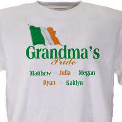 Irish Pride Personalized Names T-Shirt