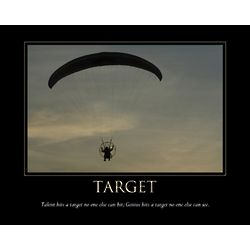 Target Inspirational Personalized Art Print