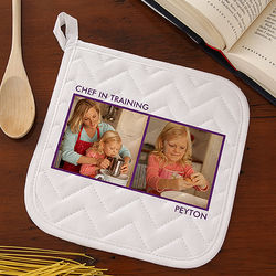 Kid's Picture Perfect Two Photo Personalized Potholder