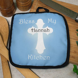 Personalized Bless My Kitchen Pot Holder