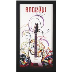 Personalized and Framed Guitar Print