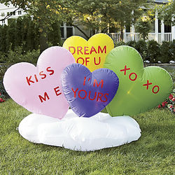 Conversation Hearts Inflatable
