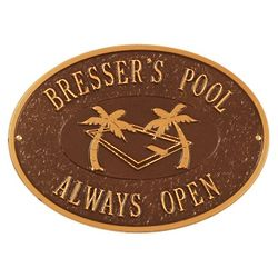 Personalized Swimming Pool Outdoor Plaque