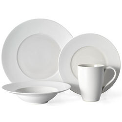 White 4 Piece Place Setting