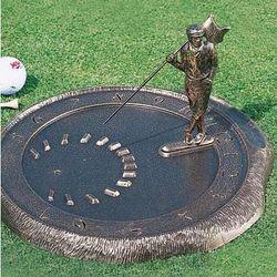 Aluminum Golfer Sundial